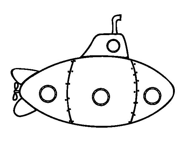 Desenho de Submarino militar para Colorir