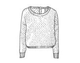 Desenho de Suéter de lã para colorear
