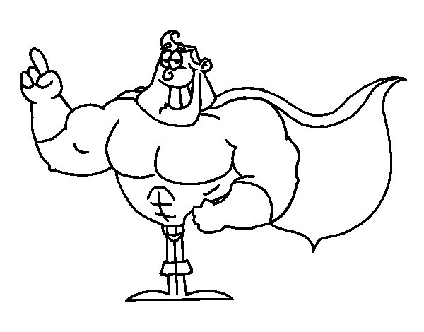 Desenho De Super-herói Para Colorir