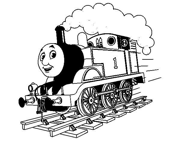 Desenho de Thomas a locomotiva 1 para Colorir