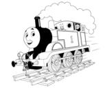 Desenho de Thomas a locomotiva 1 para colorear