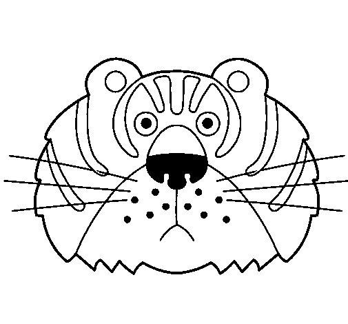 Desenho de Tigre III para Colorir