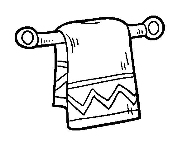 Desenho de Toalha de mão para Colorir
