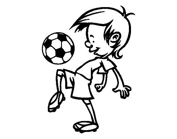 Desenho de Toques na bola para Colorir
