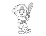 Desenho de Traje do pirata para colorear