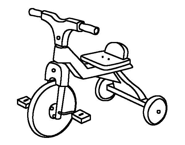 Desenho de Triciclo infante para Colorir