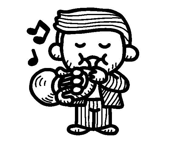 Desenho de Trombeteira para Colorir