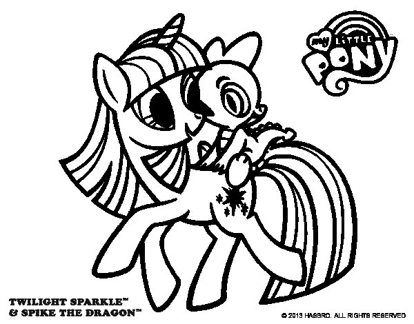 Desenho de Twilight Sparkle para Colorir