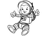 Desenho de Um astronauta no espaço para colorear