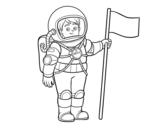 Desenho de Um astronauta para colorear