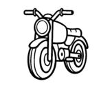Desenho de Um ciclomotor para colorear