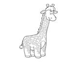 Desenho de Um girafa Africano para colorear