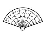 Desenho de Um leque para colorear