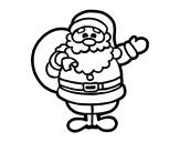 Desenho de Um Papai Noel para colorear