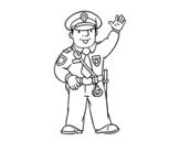 Desenho de Um polícia para colorear