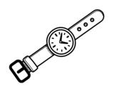 Desenho de Um relógio de pulso para colorear