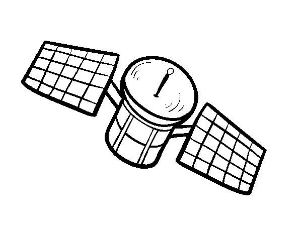 Desenho de Um satélite para Colorir