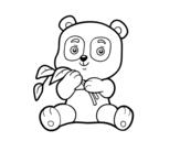 Desenho de Um urso panda para colorear