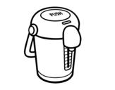 Desenho de Uma garrafa térmica para colorear