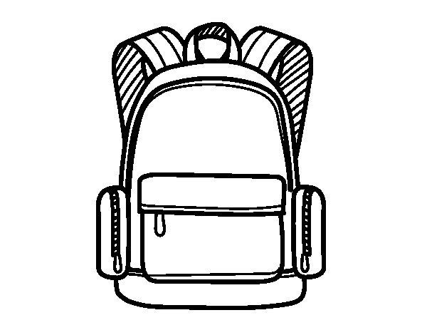 Desenho de Uma mochila escolar para Colorir