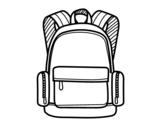 Desenho de Uma mochila escolar para colorear