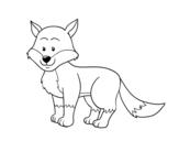 Desenho de Uma raposa para colorear