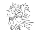 Desenho de Ussadorn vihok para colorear