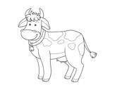 Desenho de Vaca de fazenda para colorear