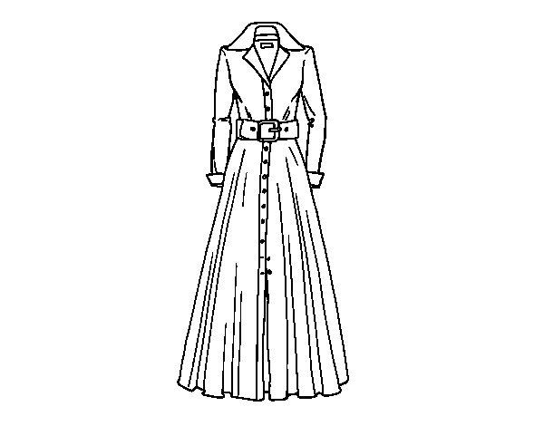 Desenho de Vestido camiseiro para Colorir