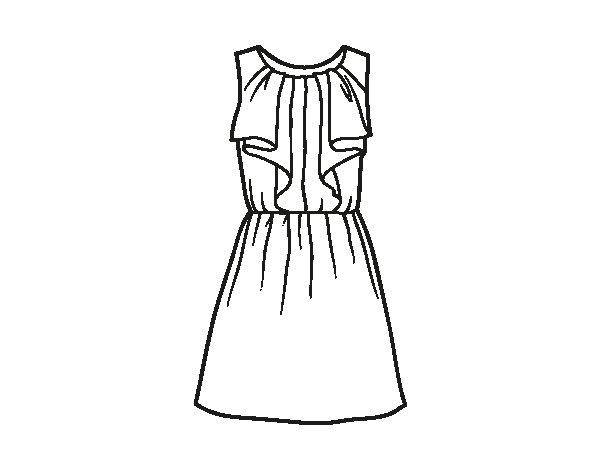 Desenho de Vestido de festa para Colorir