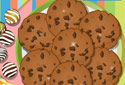 Os cookies de chocolate
