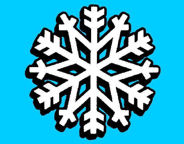 Desenhos De Flocos De Neve Para Colorir Colorir Com