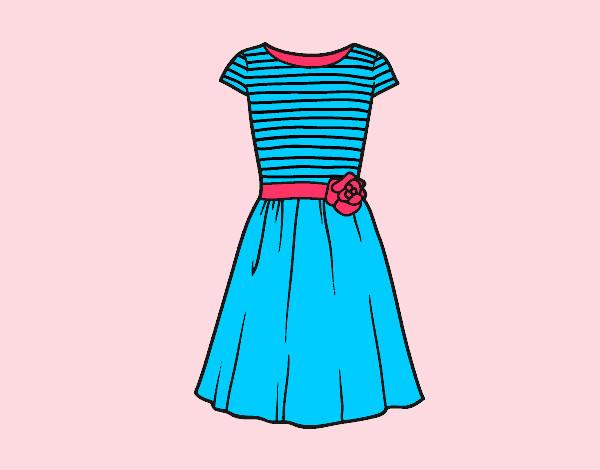 Desenhos De Vestidos Para Colorir Colorir Com