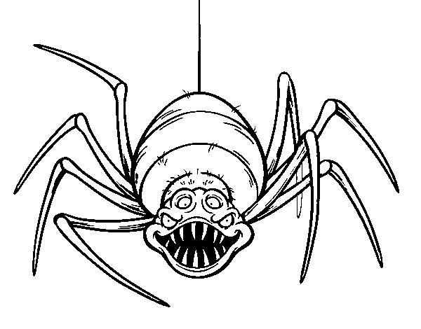 Desenho De Aranha Assustadora Para Colorir Colorir Com