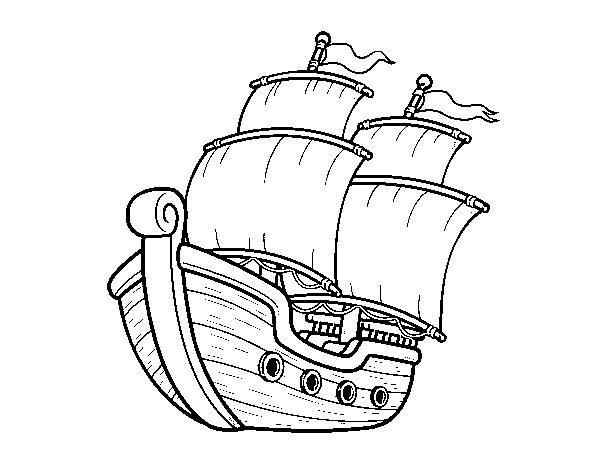 Desenho De Barco De Vela Para Colorir
