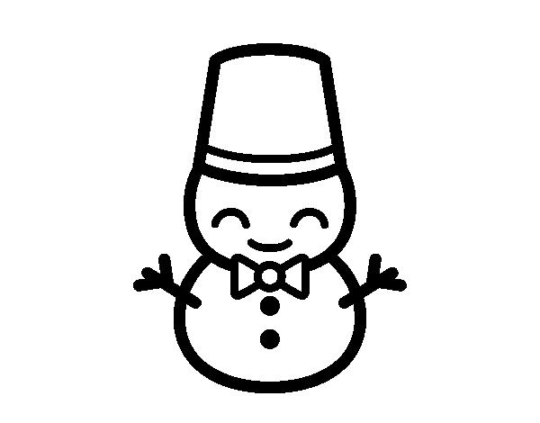 Desenho De Boneco De Neve 5 Para Colorir Colorir Com