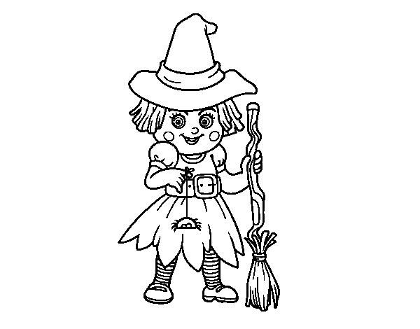 desenho de bruxinha para colorir colorir com
