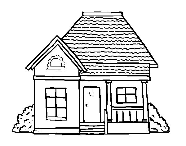 Desenho De Casa De Campo Para Colorir