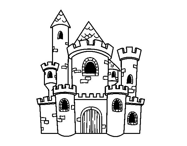 desenho de castelo de conto para colorir colorir com