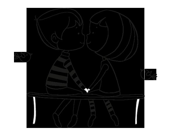 Desenho De Jovens Namorados Para Colorir Colorir Com