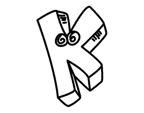 desenho de letra k para colorir colorir com