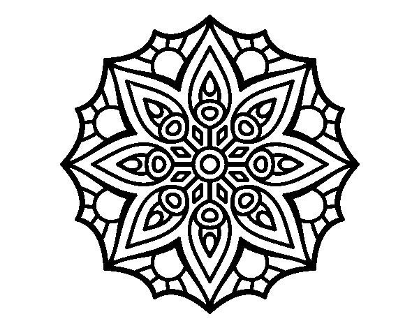 Desenho De Casas Simples Para Colorir: Desenho De Mandala Simetria Simples Para Colorir