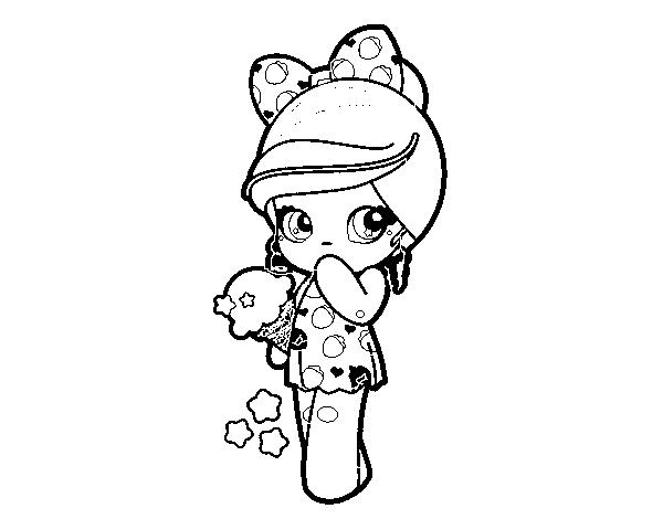 Desenho De Menina Kawaii Com Sorvete Para Colorir