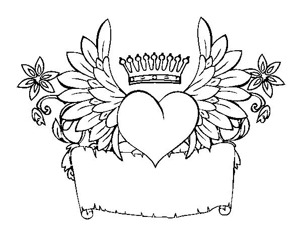 Desenho De Mensagem Com Coração Para Colorir