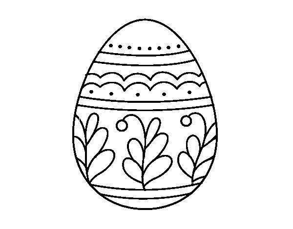 desenho de ovo de páscoa mandala para colorir colorir com