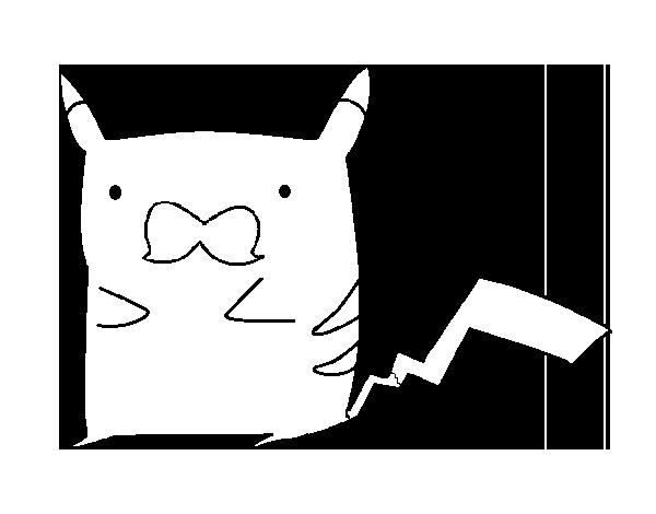 Desenho De Pikachu Com Bigode Para Colorir Colorir Com