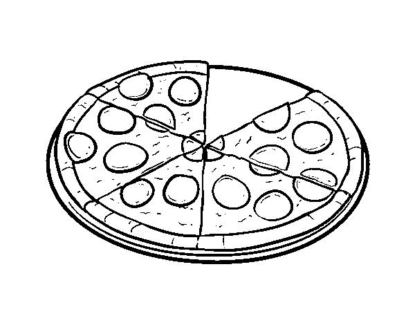 desenho de pizza italiana para colorir colorir com