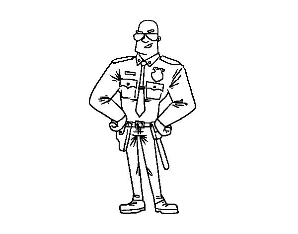 Desenho De Policial Durao Para Colorir Colorir Com