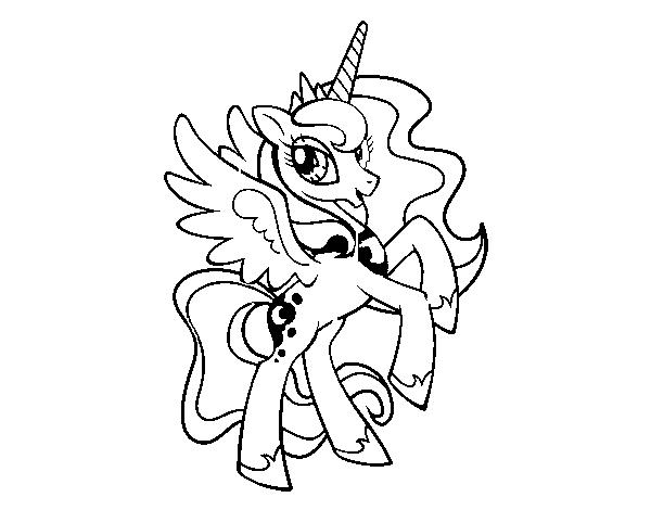 Desenho De Princesa Luna Para Colorir
