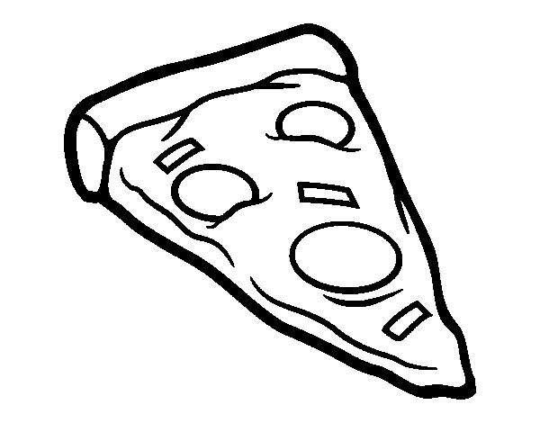 desenho de ração de pizza para colorir colorir com